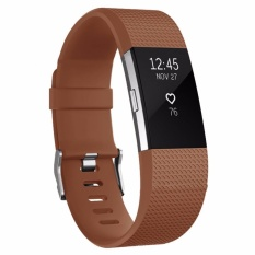 Hình ảnh Yika Fitbit Charge 2 Strap Band Wristband Watch Replacement Bracelet Accessory Size:L