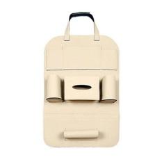yooc 55X40cm Leather Car Seat Back Storage Bag Multi-Pockets Sundries Organizer Holder Home Hanging Storage Phone Cup Storage Bag - intl