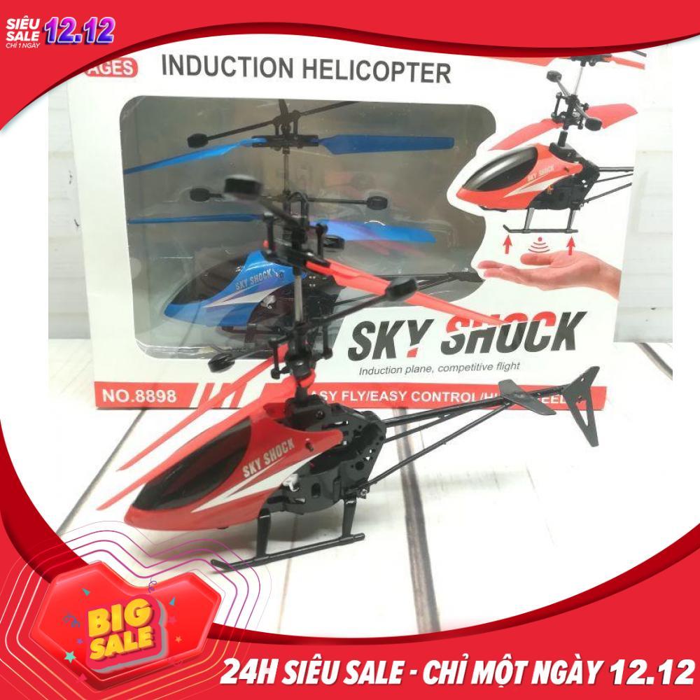 Đồ chơi máy bay trực thăng điều khiển cảm ứng bằng tay NO 8898 an toàn cho các bé [tặng kèm cáp sạc]