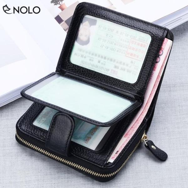 Bóp Ví Ngang Dida KB132 Công Nghệ RFID Nhiều Ngăn Đựng Tiền, Thẻ ATM Chất Liệu Da Pu