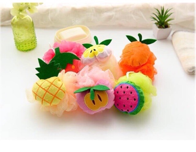 Bông tắm tạo bọt hình hoa quả - Tommy Store nhập khẩu
