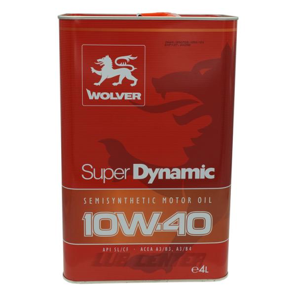 Nhớt ô tô Wolver Super Dynamic 10W-40 4L