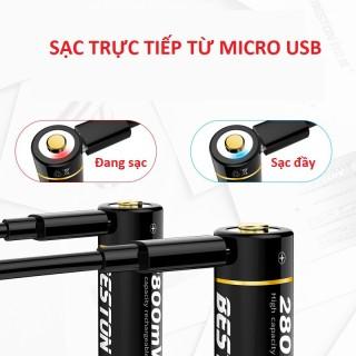 Pin tiểu sạc AA 2800mWh có cổng sạc Micro USB - Mua 2 viên tặng cáp sạc 2 đầu giá 70k thumbnail