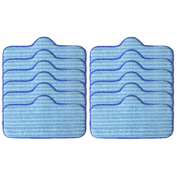 12 Pcak Steam Mop Pads Microfiber Washable Pads Replacement for Dupray Neat Steam Cleaner