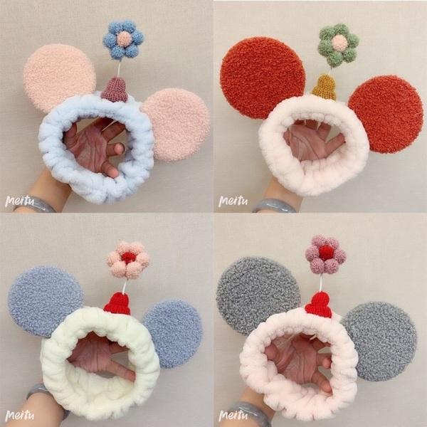 Băng đô tai chuột kèm hoa xinh xắn