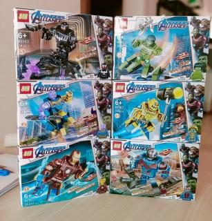 Bộ 6 hộp Minifigure cổ siêu anh hùng Marvel giáp NEXO thumbnail