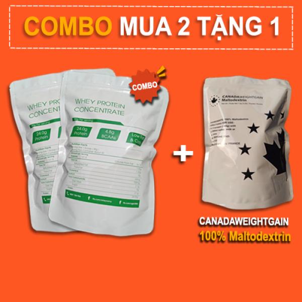 2Kg Whey Protein Concentrate NZMP 80% Protein tặng 1Kg Maltodextrin - Đạm whey cô đặc