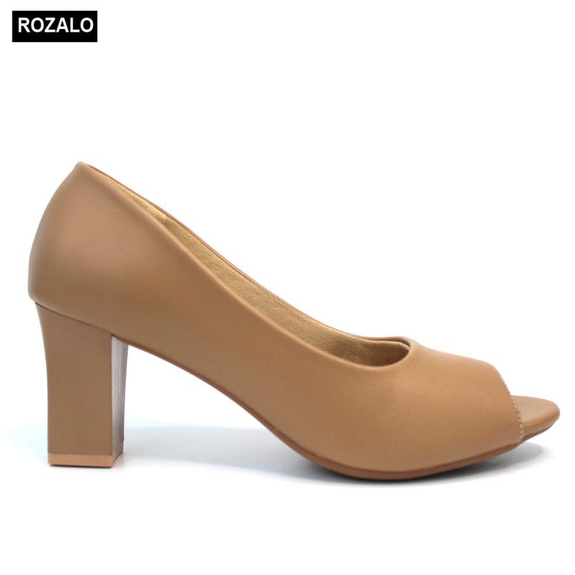 Giày nữ cao gót 7P hở mũi Rozalo R6007 giá rẻ