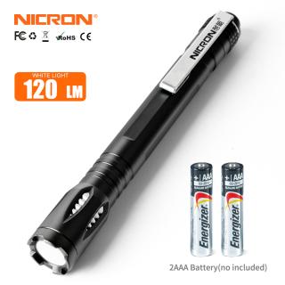 Đèn Pin LED NICRON Bút Mini Siêu Sáng Cầm Tay G20 3W Đèn Pin Phong Cách Đèn Pin LED 3 Chế Độ Chống Nước Bỏ Túi Bằng Nhôm 120 LM G20 thumbnail