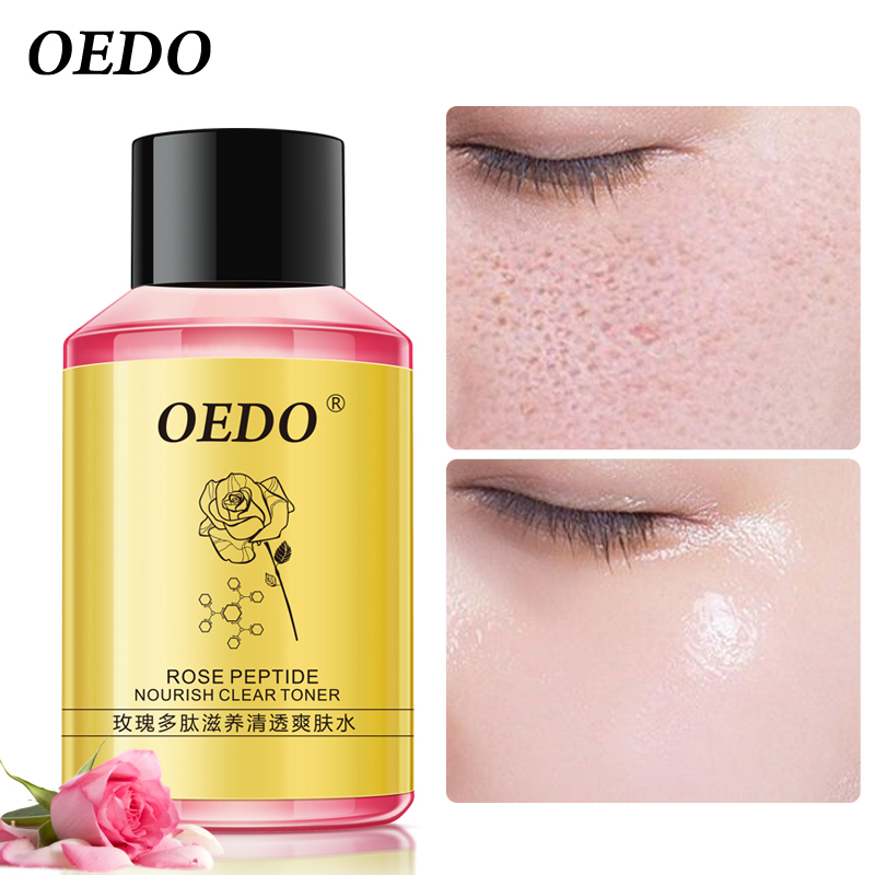 OEDO Rose Peptide Nourish Clear Toner Skin Care Whitening Moisturizing Acne Treatment Black Head Anti Wrinkle Ageless Beauty