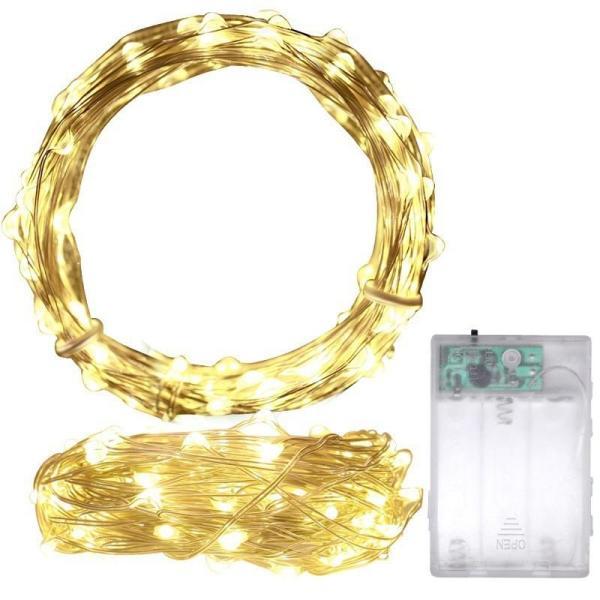 3 mét xài pin AA (bao gồm pin) dây Đèn Led Đom Đóm Chipsbling Fairy Lights
