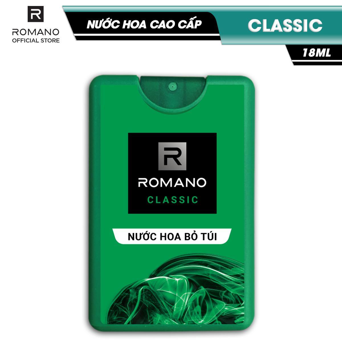 Nước hoa bỏ túi Romano Classic cổ điển lịch lãm 18ml