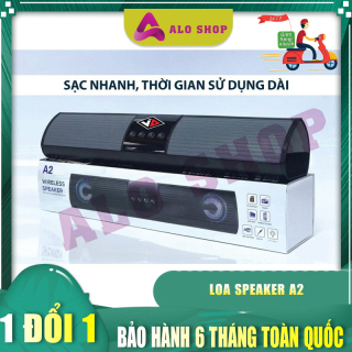 Loa Bluetooth Bass Cực Mạnh Speaker A2 Aloshop, Kiểu Dáng Sang Trọng, Phong Cách Độc Đáo. thumbnail