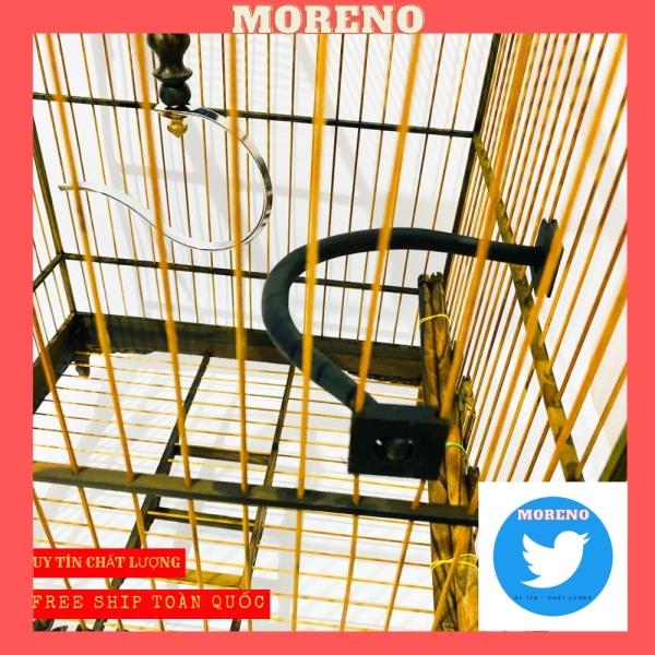 Cầu đậu góc MORENO cho chim chào mào chất liệu gỗ mun cao cấp giá rẻ dễ dàng lắp đặt (1 chiếc)