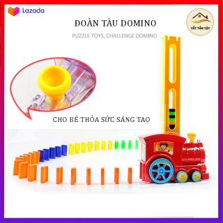 Xe Lửa Nhả Domino, Đoàn Tàu Hỏa Xếp Domino Tự Động Cho Bé Thỏa Sức Sáng Tạo thumbnail