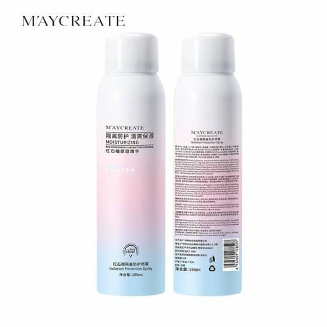 Xịt chống nắng và làm trắng da Maycreate CN50