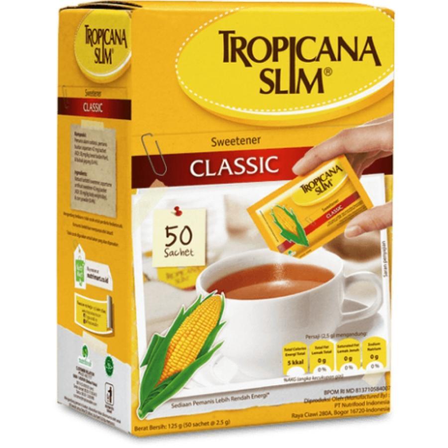Đường Bắp Tropicana Slim classic hộp 50 gói