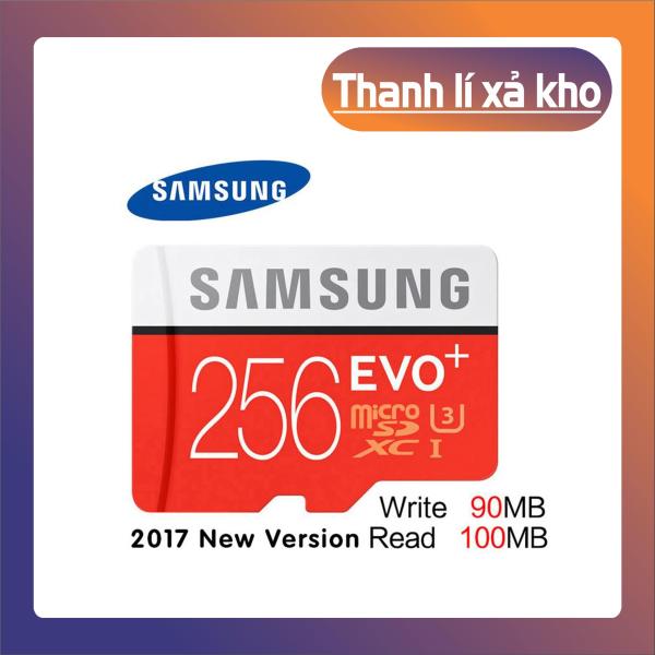 [New 2021] Thẻ nhớ MicroSDXC Samsung Evo Plus 256GB U3 4K R100MB/s W90MB/s - Box Anh Thẻ nhớ cho camera wifi, camera hành trình, điện thoại, máy chơi game, chất lượng hình ảnh 4k - Hàng Chính Hãng