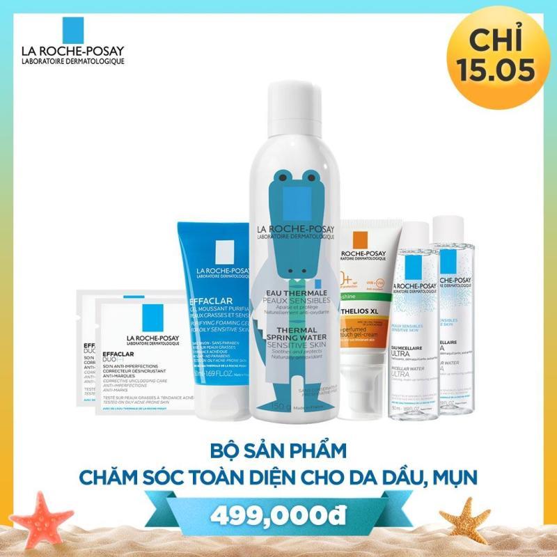 Bộ sản phẩm bảo vệ và chăm sóc toàn diện cho da dầu mụn La Roche Posay nhập khẩu