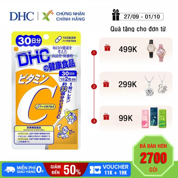 Viên uống Vitamin C DHC Nhật Bản thực phẩm chức năng giúp tăng cường đề kháng, sáng da & tăng sản sinh collagen gói 30 ngày XP-DHC-C302