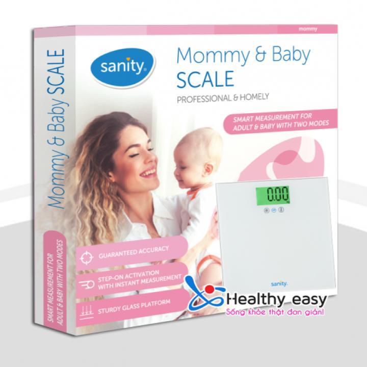 Cân sức khỏe cho Mẹ và Bé Sanity S6401.Germany cao cấp