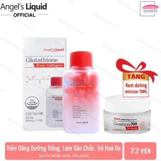[72 Viên] Viên Uống Trắng Da, Giúp Da Săn Chắc Angel s Liquid Glutathione Ever Collagen + Tặng Kèm Kem Dưỡng Minisize 10ml thumbnail