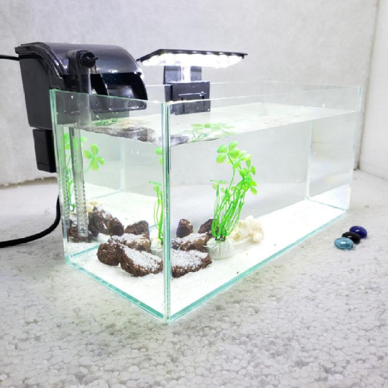 Bể cá mini để bàn Combo hồ lọc đèn có tặng kèm phụ kiện