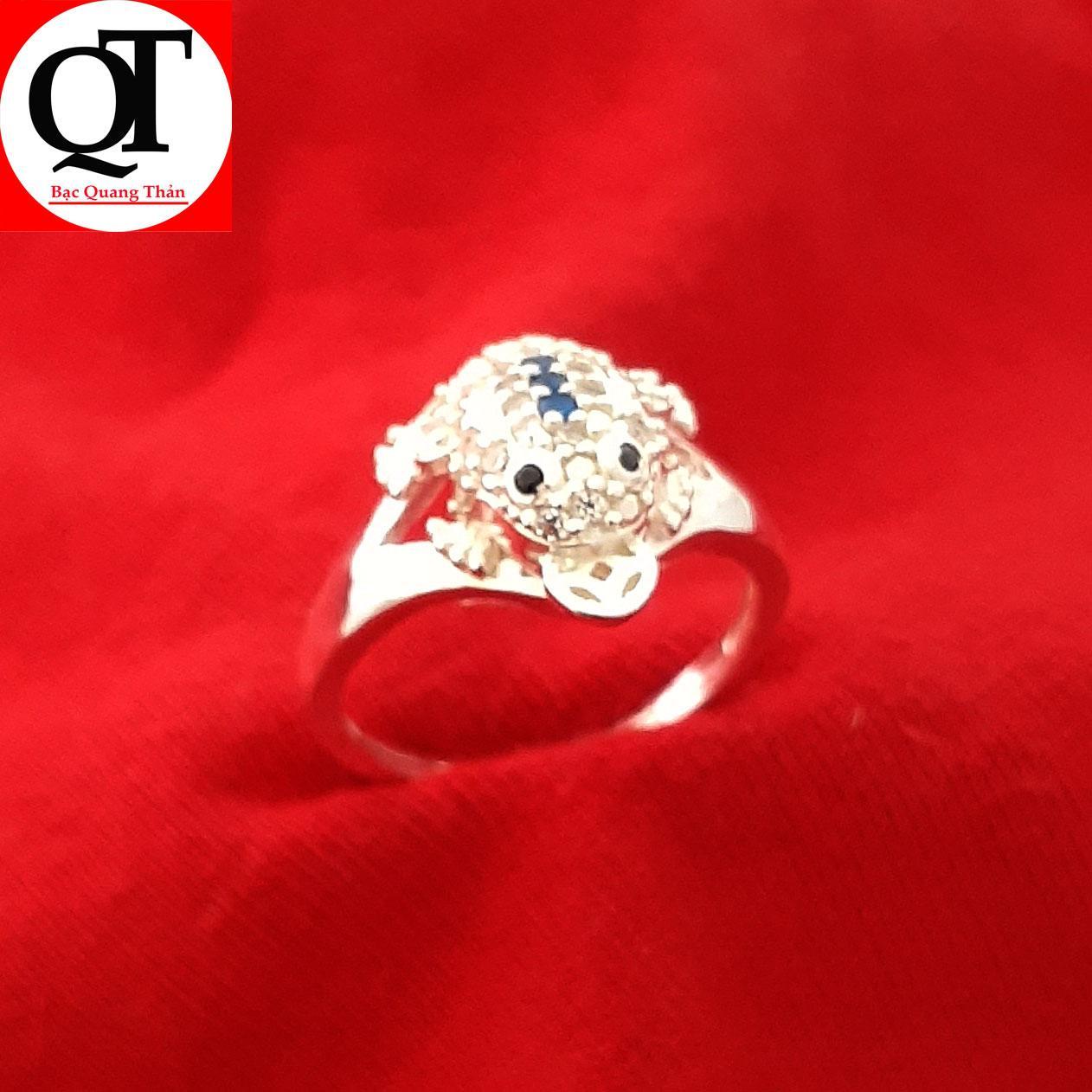 Nhẫn nữ Bạc Quang Thản, nhẫn bạc con Cóc ngậm kim tiền chất liệu bạc thật không xi mạ có thể chỉnh size tay yêu cầu, thíc hợp đeo phong thủy, thời trang – QTNU29