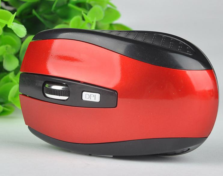 Chuột không dây 6D 7500 (đen phối đỏ)