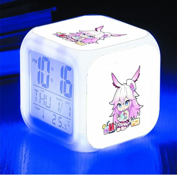 Đồng hồ báo thức để bàn in hình Honkai Impact 3 anime chibi LED đổi màu bán chạy