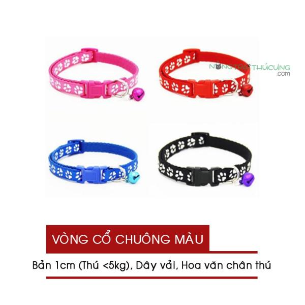 Vòng Cổ Dây Vải - Chuông Màu Cho Chó Mèo (< 5kg) - Nông Trại Thú Cưng