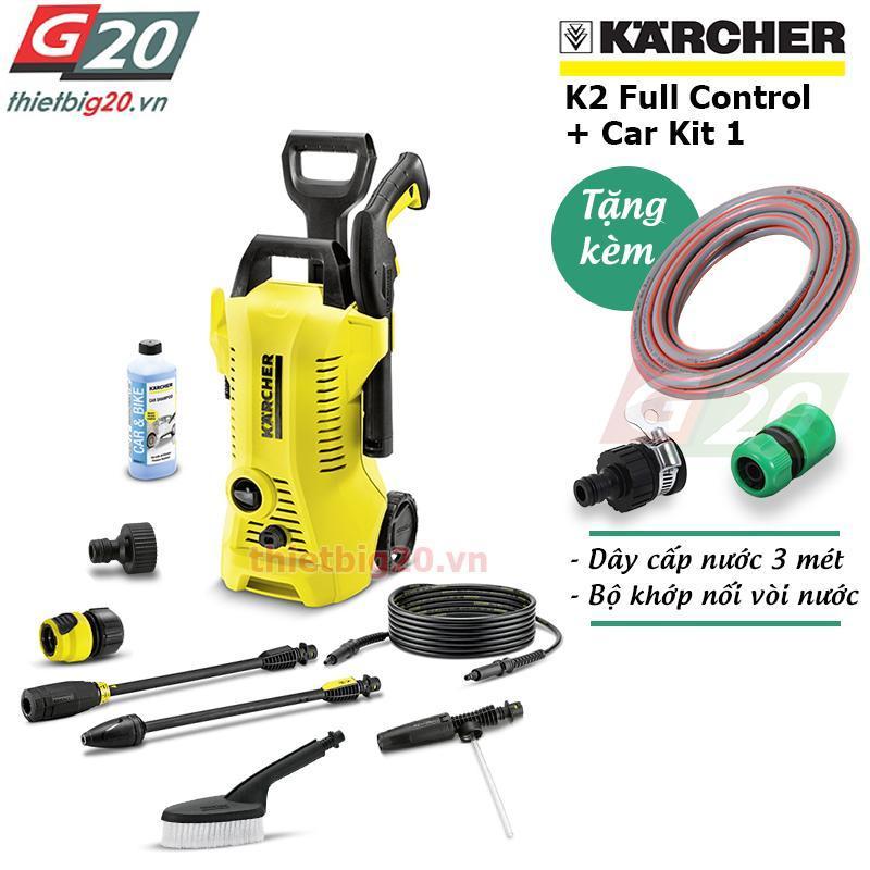 Máy rửa xe ô tô gia đình có chỉnh áp Karcher K2 Full Control Car EU - Bảo hành 12 tháng