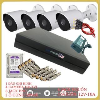 Trọn bộ camera KBvision-Sản phẩm bao gồm 1 đầu ghi-4 camera-1 nguồn 12v10a-8 jack BNC-4 jack nguồn-1 ổ cứng 500gb,đầu ghi 4 KÊNH KX-A7104SD6,camera KBvision KX-A2100CB4 2.0 MPX thumbnail