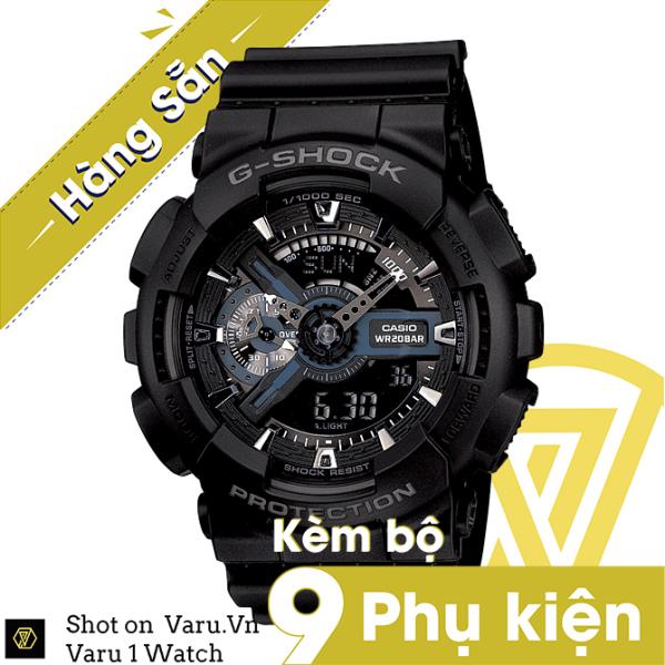 Nơi bán [Cao Cấp] Đồng hồ thể thao nam nữ G-Shock GA-110-1BDR Full phụ kiện