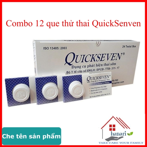 Que thử thai QuickSeven - 12 que test