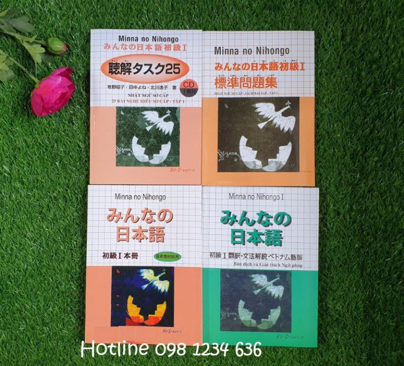 Mua Sách Minna no nihongo sơ cấp 1 (SGK + Bản dịch+ Bài tập+ Tập viết)