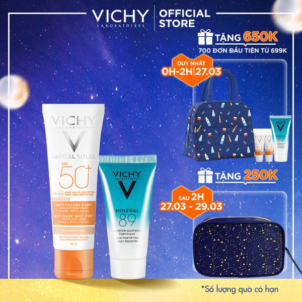 Bộ kem chống nắng (có màu) ngăn sạm da & giảm thâm nám VICHY Capital Soleil Anti-Daskspot