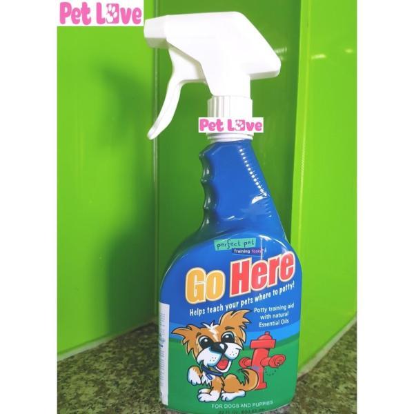 Chai xịt Go Here (Mỹ, 650ml) huấn luyện chó đi vệ sinh đúng chỗ (tặng sách hướng dẫn)