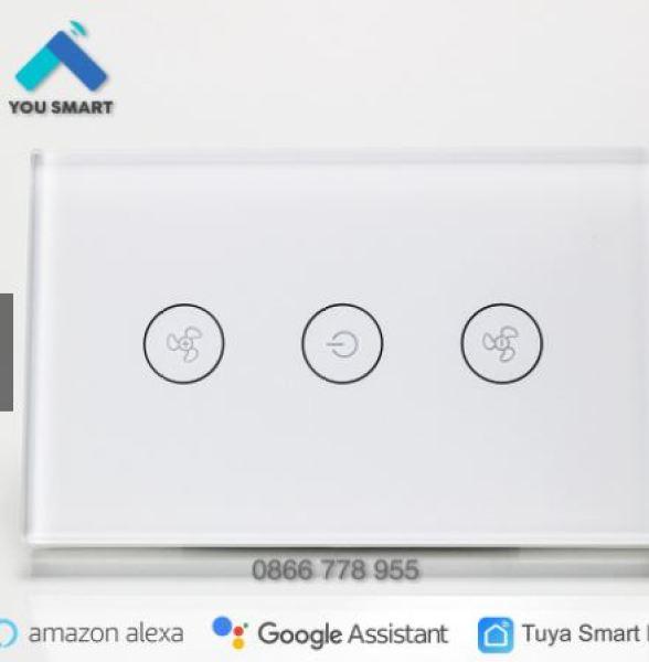 Công tắc Quạt Trần thông minh Tuya Smart Life cảm ứng Wifi-MÀu trắng