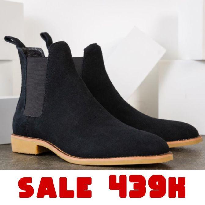 Giày da nam Chelsea Boots Da Bò Lộn Cao Cấp Đế Cao Su Êm Cực Bền Made in VIETNAM - BẢO HÀNH 12 THÁNG giá rẻ