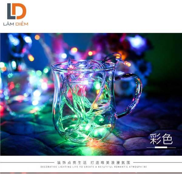Đèn LED trang trí dây chớp 4m5 điện vào 220V, lõi dây đồng, nhôm, vỏ bóng đèn nhựa, tuổi thọ bóng đèn 20.000h