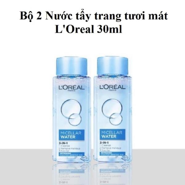 2 Chai Nước Tẩy Trang 3 In 1 LOreal Paris Micellar Water 30ml (Chai mẫu thử mini)