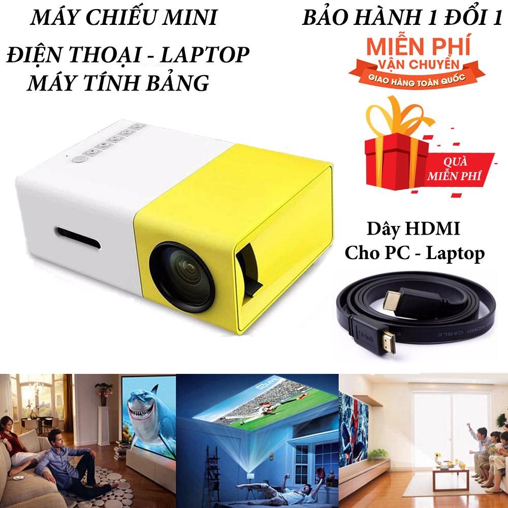 Máy Chiếu Phim Mini Cho điện Thoại Laptop YG-300 Hỗ Trợ độ Phân Giải Lên đến 1920 X 1080 Pixel Giã Ngoại, Giải Trí Cho Trẻ Em Tặng Dây HDMI 1,5 Mét Duy Nhất Khuyến Mại Hôm Nay
