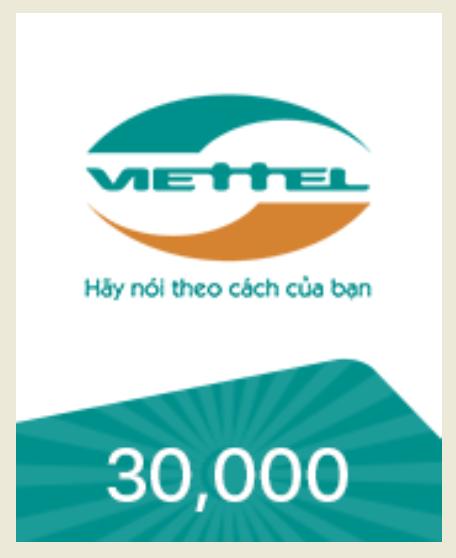 [HCM]Mã thẻ VIETTEL 30.000 - nhận mã SIÊU TỐC qua EMAIL