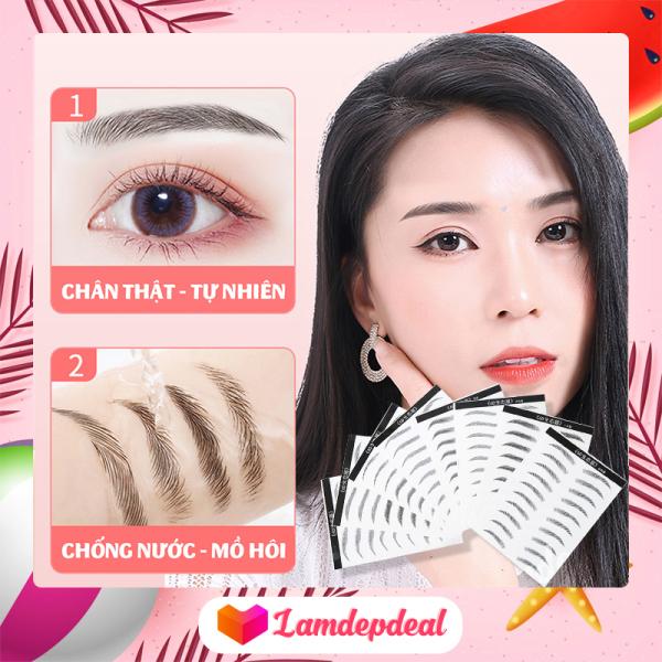 ♥ Lamdepdeal - Miếng dán lông mày 6D Eyebrow Sticker 6 kiểu thời thượng - Miếng dán hình xăm lông mày không thấm nước, siêu tự nhiên - 100% an toàn cho da, nam nữ đều sử dụng được. giá rẻ