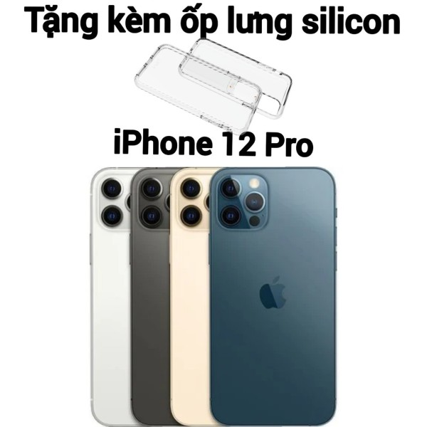 [HCM][Trả góp 0%]Combo Điện thoại Apple iPhone 12 Pro bản 128GB - hàng new 100% chưa kích hoạt + Ốp lưng silicon chống va đập