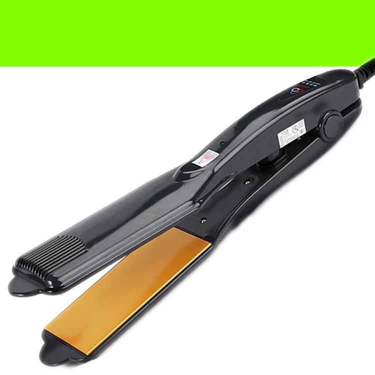 Máy duỗi thẳng tóc chỉnh nhiệt - máy bấm tóc xù lưỡi vàng - TM067