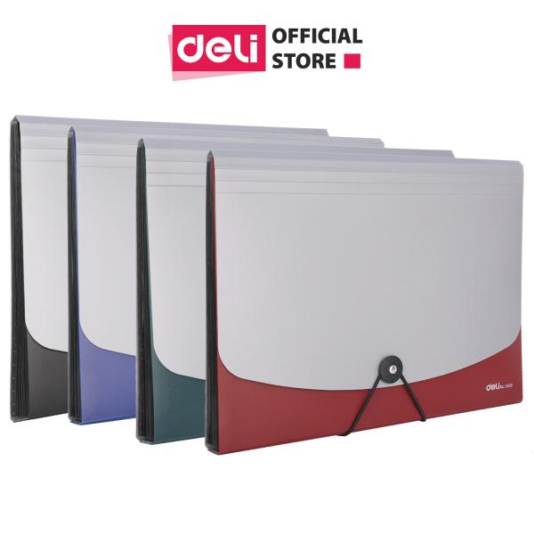 Cặp tài liệu A4 DELI - Xám/Xanh dương/Đỏ/Xanh lá - 1 Cái E5558