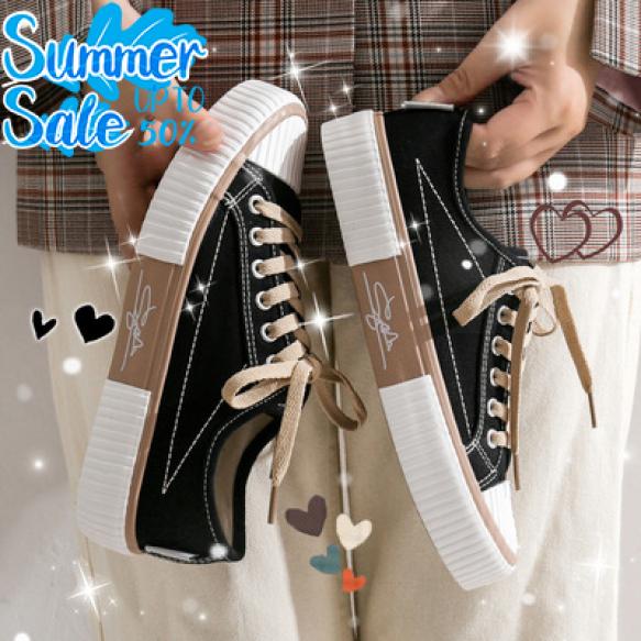 Giày nữ, giày sneaker nữ Ulzanng Cổ thấp chữ ký Thiết kế trẻ trung, năng động Mang êm chân Phù hợp với các bạn trẻ giá rẻ