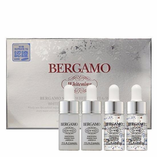 Set 4 chai Siêu tinh chất dưỡng trắng da BERGAMO Snow White & Viva White Whitening Perfection Ampoule Set 13ml x4 Nhật Bản